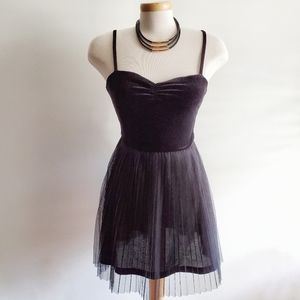 H&M CONSCIOUS Dress Velvet Black Size 8
